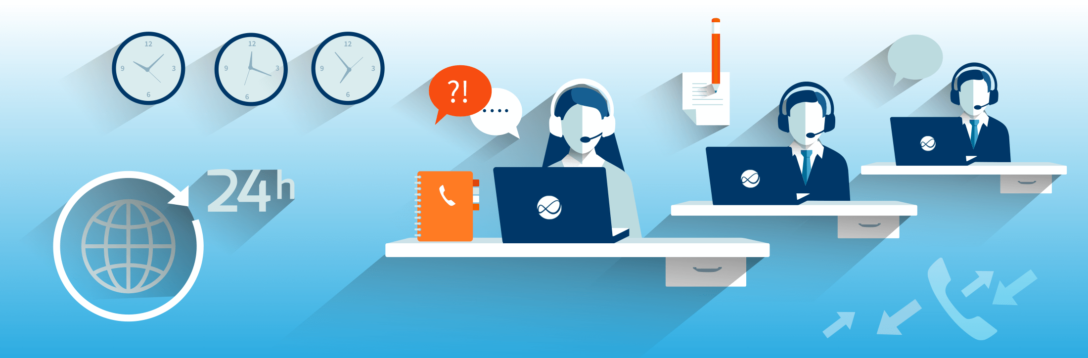 Help Desk Illustration